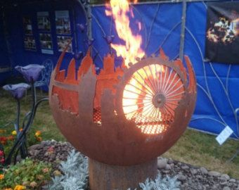 Fire Sphere Fire Ball 900mm Sculptural Fire от CraftsmeninMetalUK