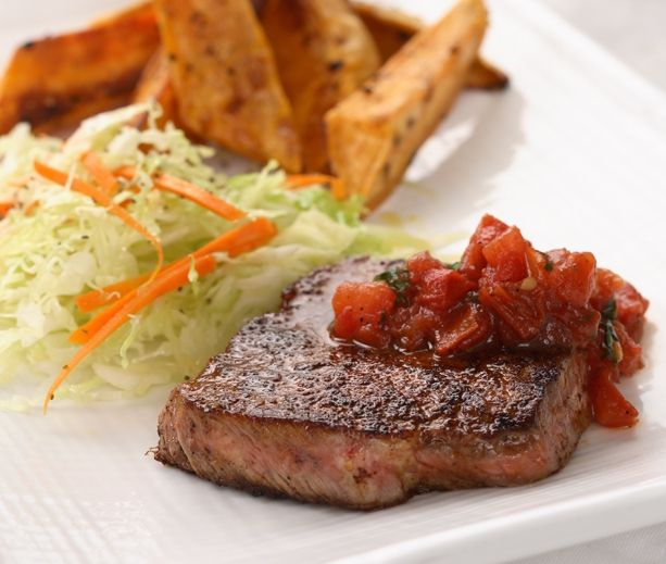 28 day diabetic menu: Chilis Rubbed Steaks, Fun Recipe, Steaks Recipe, Chilirub Steaks, Pan Salsa, Meat Loaf,  Meatloaf, Healthy Recipe, Healthy Dinners Recipe