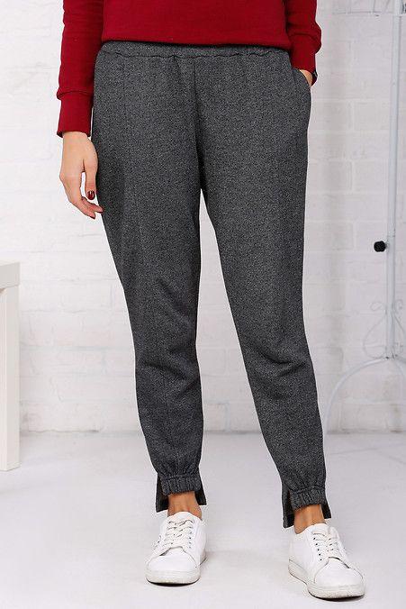 0d7e8f98 Трикотажные зауженные штаны Clover с манжетами Garne 3032585 | Garne Осень  2018 | Pants, Suits и Fashion