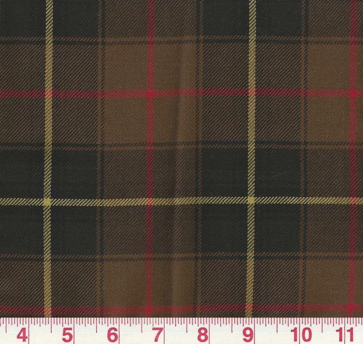 100% Wool Plaid Ralph Lauren Upholstery Fabric Beadaig Tartan Orig MSRP $288y