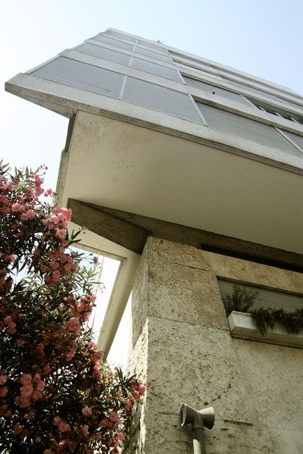 Casa Girasole , Luigi Moretti , Roma , 1953 ,   Window detail