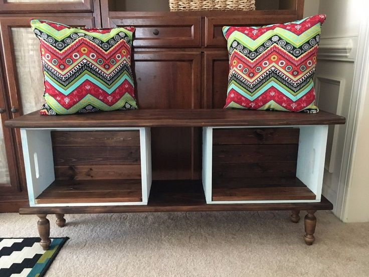 Would be cute at foot of bed... Do THIS to any Michaels crates to get extra seating