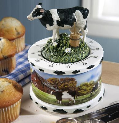 Country Cows for Kitchen | Country Cow Decor Kitchen Timer
