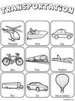 Transportation Theme Unit - Printables