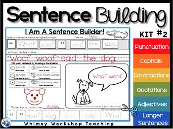 This is a complete sentence writing program with interactive printable pages that are perfect for literacy centers, whole group lessons, and daily morning work. (There is a free sample page in the preview) This is a complete sentence writing program with interactive, printable pages of tasks that are perfect for