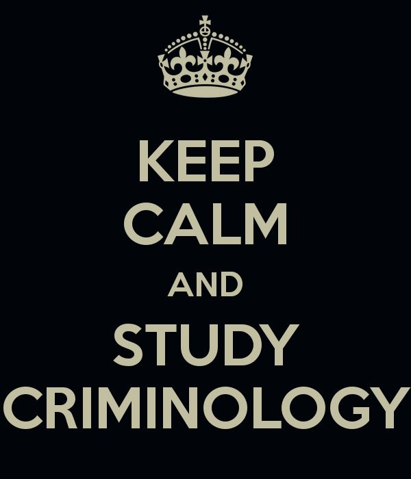 Purpose of Criminology