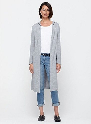 I'm in love with this cardigan. Fair Trade Hooded Long Cardigan in Organic Cotton Knit