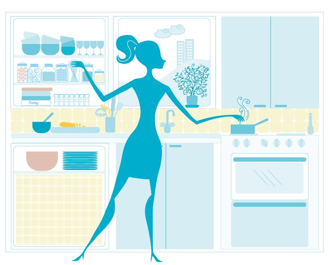 What's cookin'? Vector image.