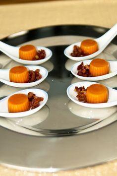 Cucharitas de gelatina de gazpacho con jamón   Cosy & Chef
