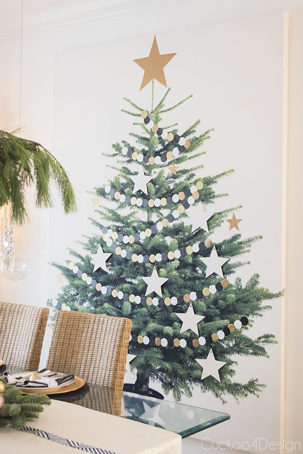 Christmas Home Tour 2014 - Cuckoo4Design; love this fabric tree with silver and gold