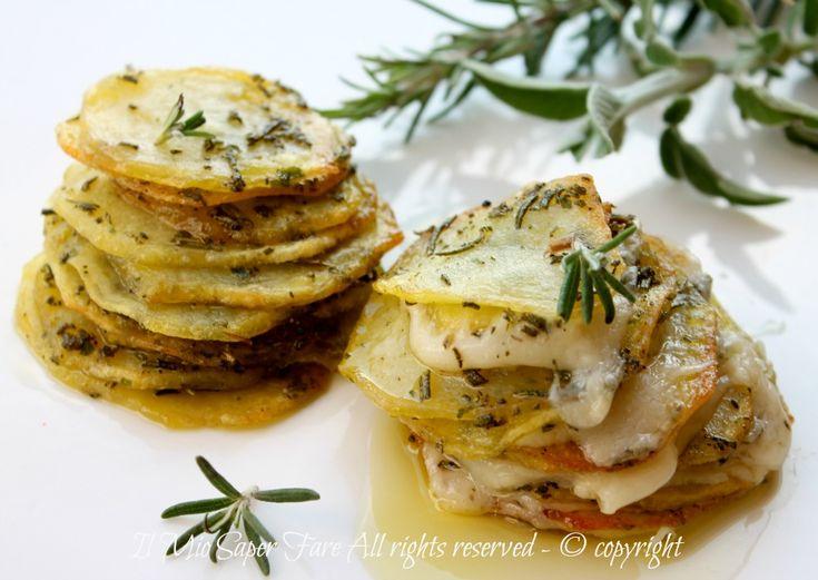 Millefoglie patate e formaggio ricetta il mio saper fare