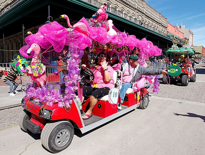 mardi gras golf cart - Google Search