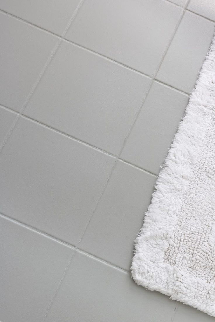 How I Painted Our Bathroom S Ceramic Tile Floors A Simple And Cheap Diy Driven By Decor Painted Bathroom Floors Ceramic Floor Tiles Ceramic Floor Tile