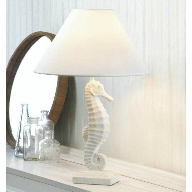White Seahorse Table Bedside Desk Lamp for Tropical Coastal Beach Home Decor #AccentPlus #CoastalNauticalBeach