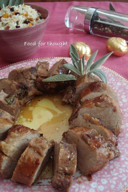 Food for thought: Ψαρονέφρι με Φασκόμηλο σε Σάλτσα Κρασιού και Πολύχρωμο Ρύζι Basmati