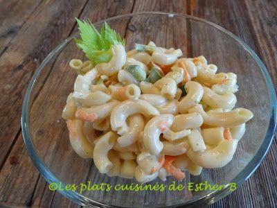 Les plats cuisinés de Esther B: Salade de macaronis sucrée