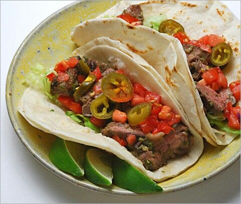Chipotle rubbed steak Tacos with chipotle