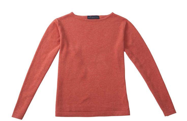 KP Maclane nantucket red boatneck sweater