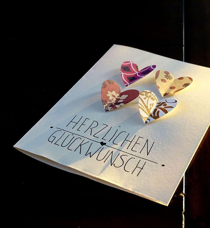 25 best ideas about gl ckwunschkarte hochzeit on pinterest hochzeitskarte basteln karte. Black Bedroom Furniture Sets. Home Design Ideas