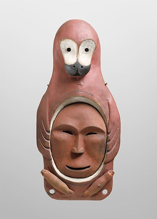 Yup'ik Seal Mask \\ late 19th century \\ Alaska \\ Wood, pigment \\ Collected in late 19th century by Bishop Farhout, MacKenzie River area