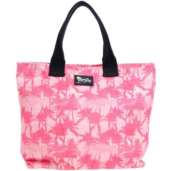 Superdry Handbag ($46) ❤ liked on Polyvore featuring bags, handbags, fuchsia, fuchsia pink handbags, fuschia handbags, fuschia pink handbag, fuschia purse and cotton shopping bags
