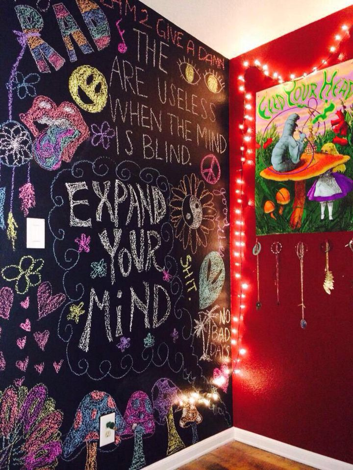 Love the idea of the chalk wall