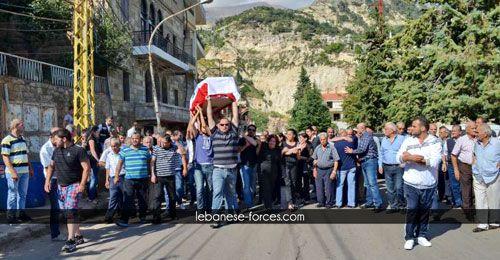 بالصور: بشري تستقبل جثمان الشهيد جوني نقولا (رحمة) | The Lebanese Forces Official Website