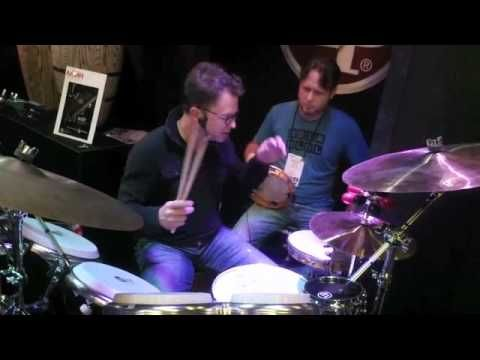 We happened to run across Stanton Moore and Scott Kettner at LP's NAMM 2012 booth, where the two demonstrated the musical applications of the new Stanton Moore Pandeiro. With Moore on a hand percussion drum kit and Kettner playing a traditional pandeiro, the duo interwove Brazilian...