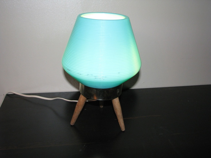 Vintage Retro Eames Era Danish Modern Teak Beehive Table Lamp Atomic Mid-Century $10