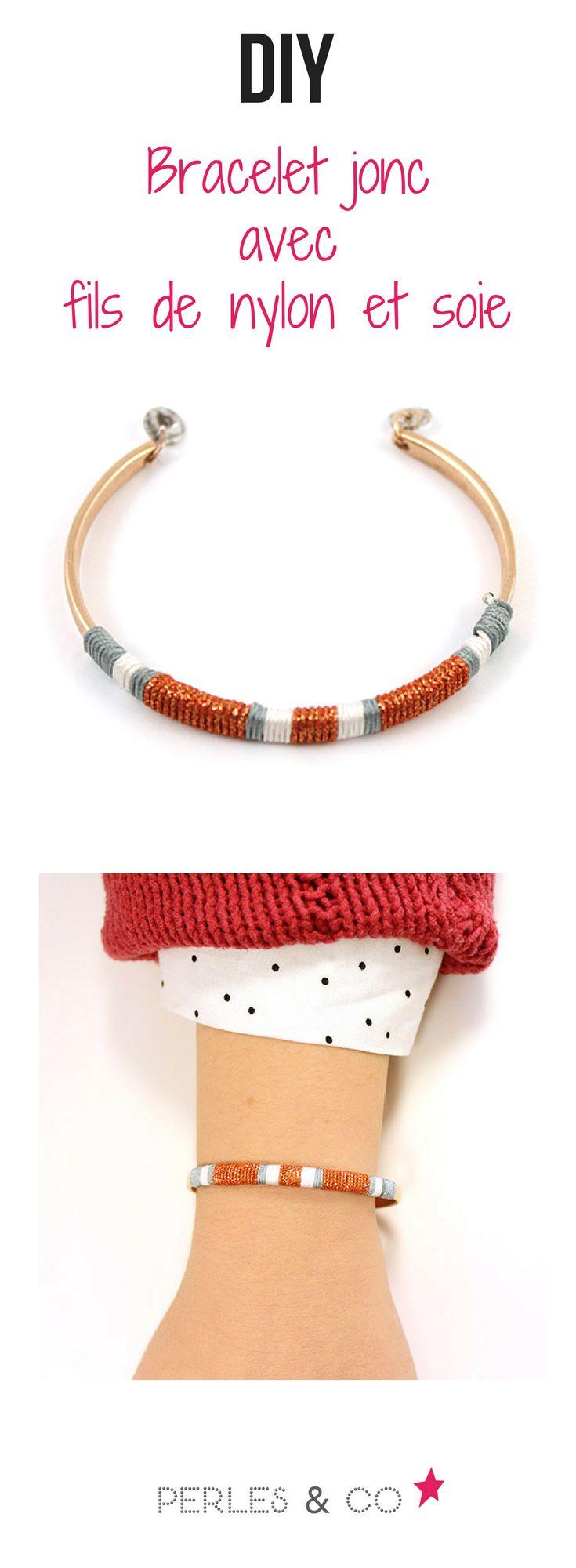 Suivez ce tutoriel pour réaliser ce bracelet jonc tendance. #tutoriel #jonc #tendance #bijou #diy #facile