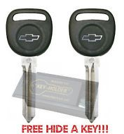 2 New OEM Chevy Cobalt Transponder Key Blank 06 07 08 09 2010 FREE KEY BOX #Cobalt #Chevy
