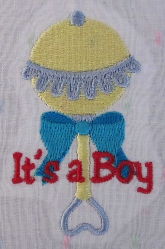 Its A Boy Baby Rattle Embroidery Design ...