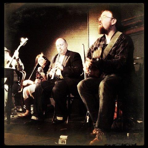 Mark Flynn, Eimear Lynch, Tim Hart and Enda Reilly (right) at Bewleys Grafton St Dublin.