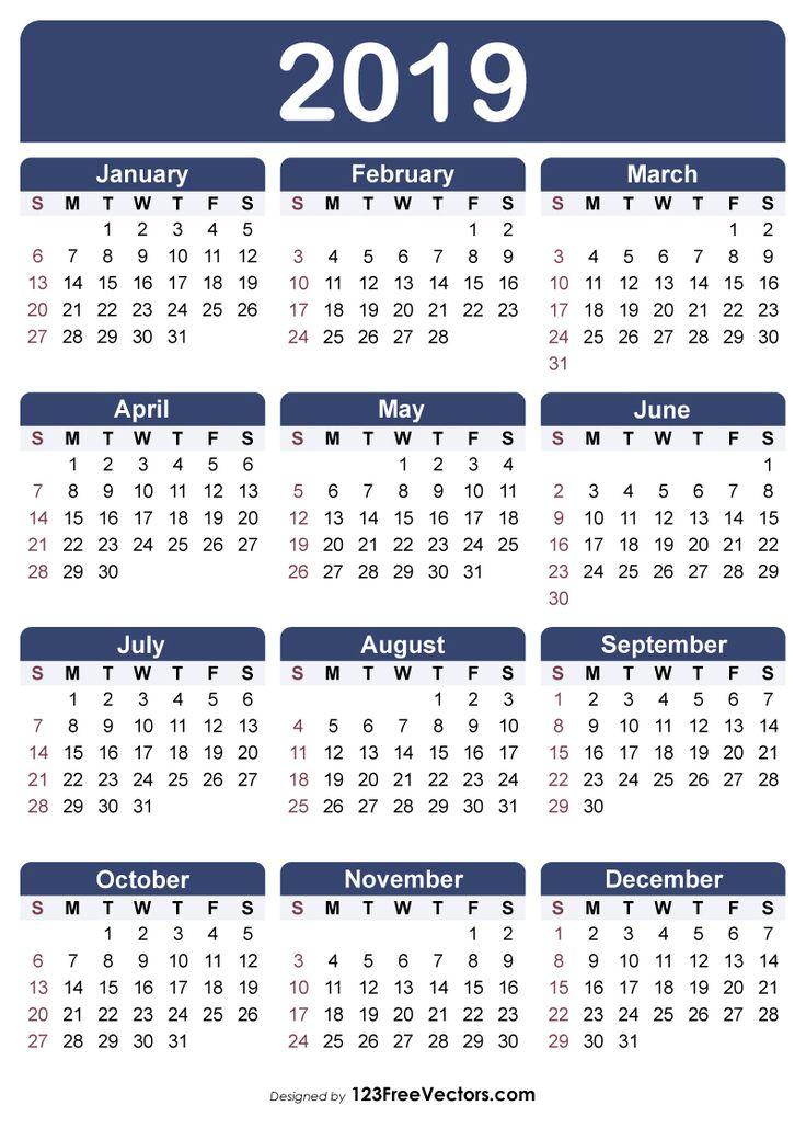 8 x 11 calendar printable