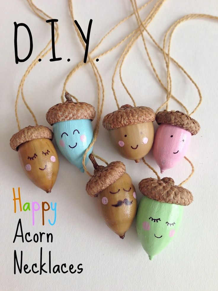 DIY Happy Acorn Necklaces