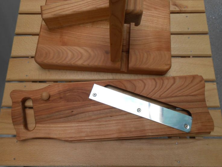 Mão feita de madeira de cerejeira salame Curado carne Fatiador Helicóptero Do Século Xix Design