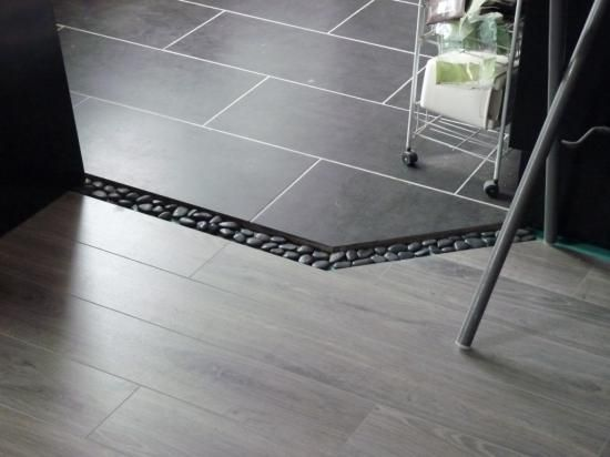 11 best carrelage metal images on pinterest subway tiles for Sol cuisine ouverte sur salon