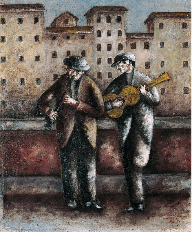 ♪ The Musical Arts ♪ music musician paintings - Ottone Rosai