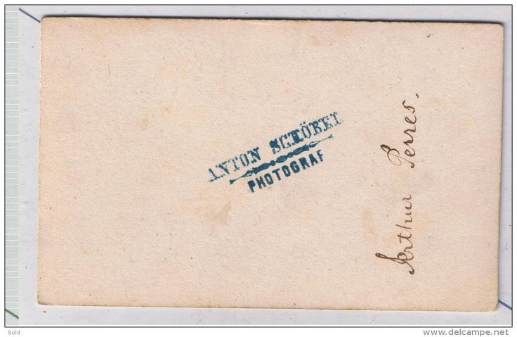 CDV- RAR Anton Schobel 1860-1870 - Arthur Perres - Delcampe.net
