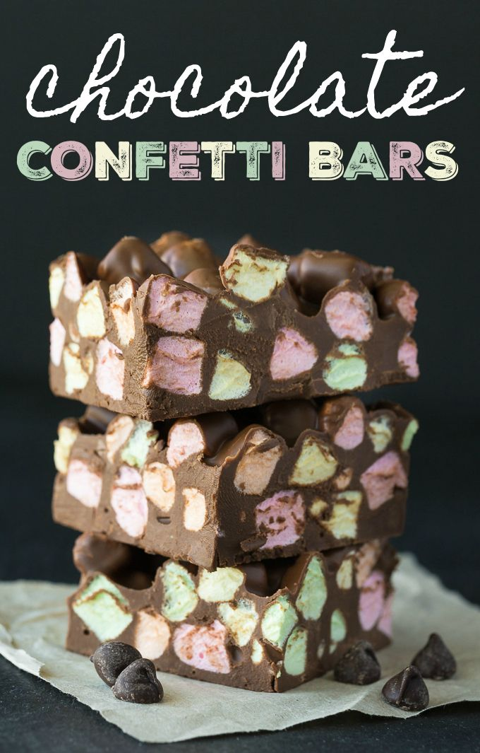 Chocolate Confetti Bars - Sweet, silky and melt-in-your-mouth good. There's a reason this vintage recipe has stood the test of time!