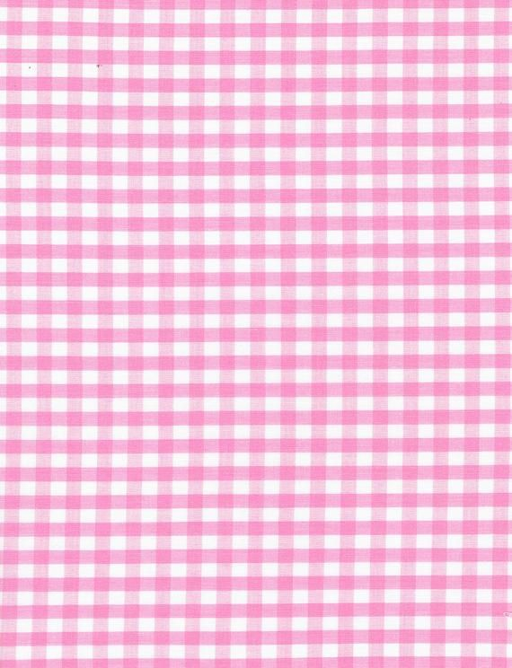 Fabric Light Pink 1/4 inch Checkered Gingham By the Yard