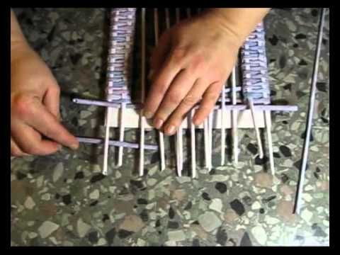 Weaving frames of newspapers. Part 1. - YouTube