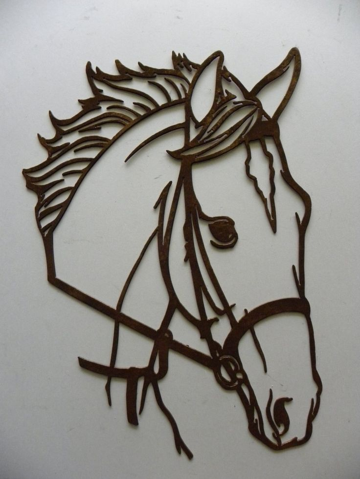 Amazon.com: Horse Head Metal Wall Art Country Rustic Home Decor: Home & Kitchen