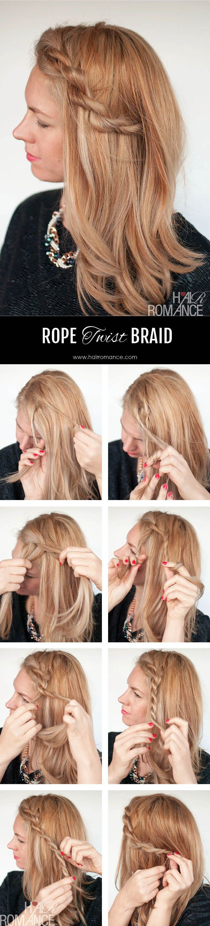Fix your frizzy fringe with this easy rope braid tutorial