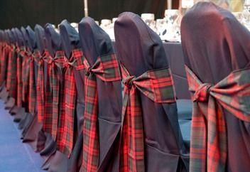 Los cuadros escocesas tambien en bodas y eventos! tendencia otoño invierno 2013-2014  tartan classic chair decorations