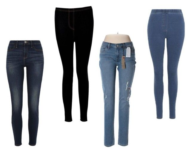 jeggings 2 by beavercity on Polyvore featuring Boohoo, Levi's, River Island and George