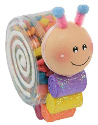 Regalo para niños / Fiestas infantiles / Dulceros / Dulces / Baby Shower / Caracol  / Barra de dulces