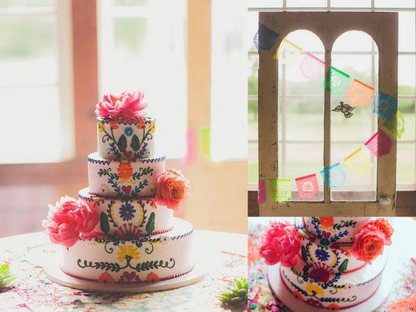 Fiesta Themed wedding at Howell Family Farms photographed by Nbarrett Photography — Dallas-Fort Worth Wedding Planning Studio https://www.etsy.com/listing/150194196/xs-4-pack-custom-color-papelitos-picados?ref=shop_home_active