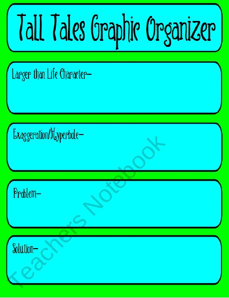 Tall Tale Graphic Organizer product from Teaching-Goodies on TeachersNotebook.com