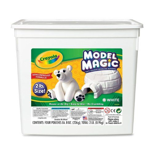 Crayola 57-4400 Model Magic Modeling Compound, 2-lb. Bucket, White, Four 8-oz. Pouches Crayola http://www.amazon.com/dp/B000MMR7TS/ref=cm_sw_r_pi_dp_ttfgub0CH2FDS